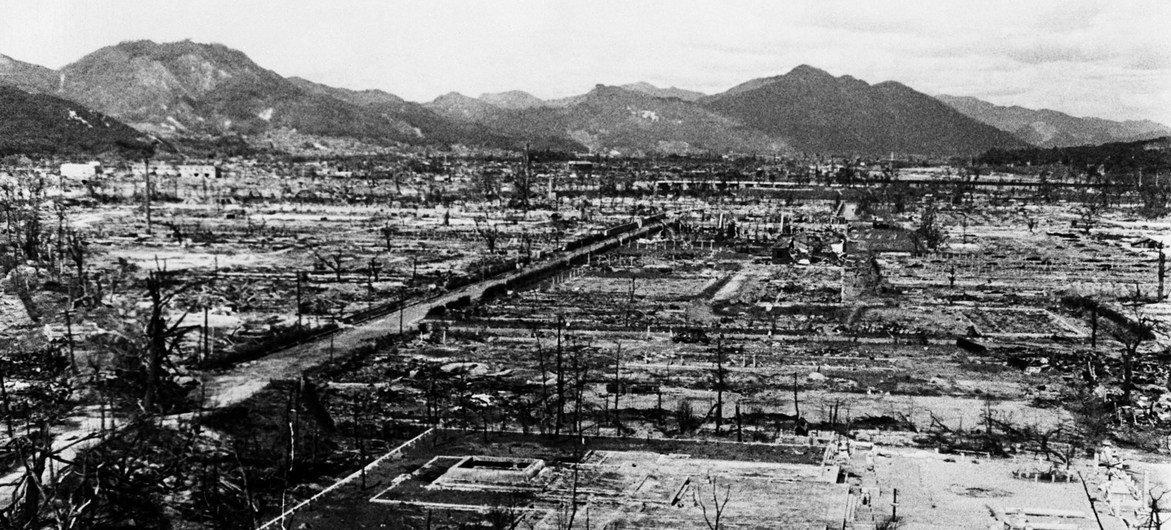 There was widespread destruction in Hiroshima as a result of the nuclear bomb which was dropped on the Japanese city in August 1945.