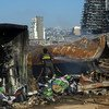 تدمرت مساحات شاسعة نتيجة للانفجار الذي هز مرفأ العاصمة اللبنانية بيروت.