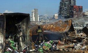 De larges pans de Beyrouth ont été détruits par l'explosion du port de la ville.