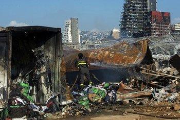 Varias zonas de Beirut, la capital de Líbano, resultaron dañadas por la explosión en el puerto de la ciudad