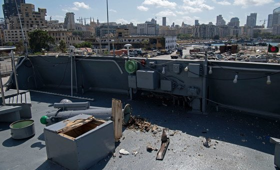 A Bangladesh Navy ship which is part of the UN peacekeeping force and which was in Beirut port at the time of the explosion was damaged.