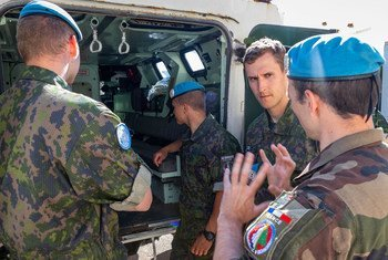UN peacekeepers from France discuss their role in the rescue effort following an explosion in Beirut, Lebanon.
