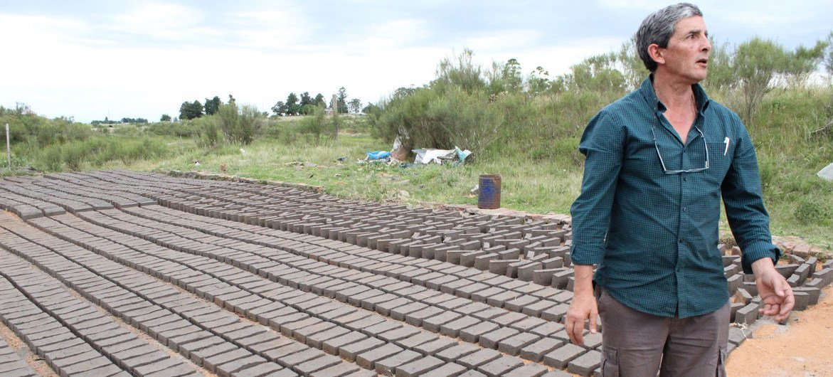 Eduardo Romero has spent a lifetime in bricks—as a brickmaker for 28 years, and a bricklayer before that.