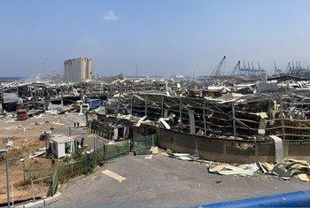 Bandari ya Beirut baada ya mlipuko
