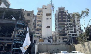 Severe damage all over Beirut due to the blast on August 4th 2020.