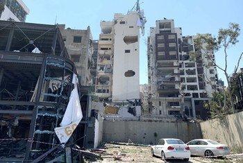 Uharibifu uliosababishwa na  mlipuko uliotokea mjini Beirut mnano 04 Agosti 2020