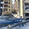 Danos nas ruas de Beirute depois da explosão de terça-feira