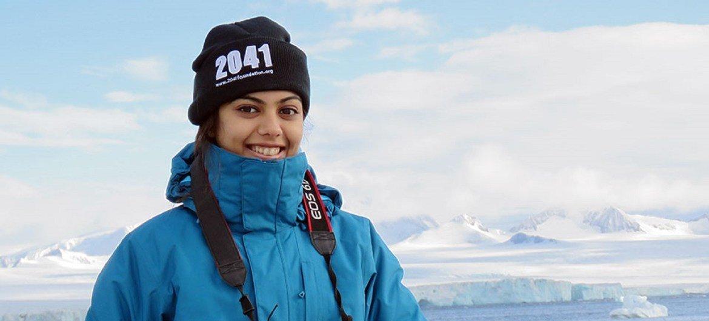 Avani Awasthee, uma jovem ativista do clima. Ela é de Pune, na Índia