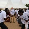 Hafla ya kuchagiza amani nchini Sudan Kusini ambako mkuu wa UNMISS na wawakilishi kutoka serikali pamoja na wakazi walishiriki.