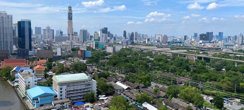 Une vue de la ville de Bangkok, la capitale de la Thaïlande.