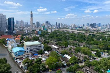 A view of the city of Bangkok, the capital of Thailand.