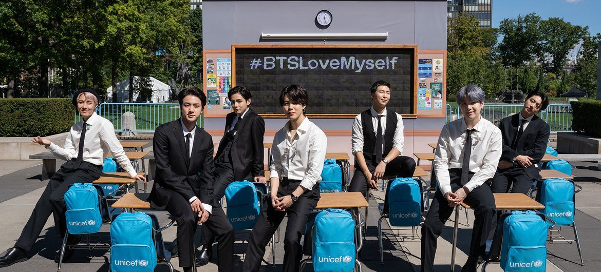The K-Pop group BTS is supporting UNICEF's LOVE MYSELF campaign.