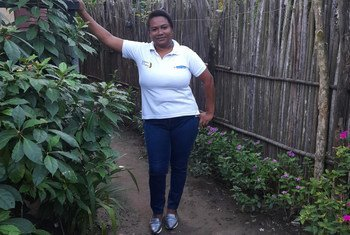 Con la ayuda de la Organización Internacional del Trabajo, Rosa Duarte recibe formación laboral para mitigar las barreras que impiden a las víctimas su inserción laboral o generación de ingresos.