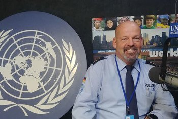 UNSOM Police Commissioner Meinolf Ludwig Schlotmann speaks to UN News during UN Police Week in New York. (November 2019)