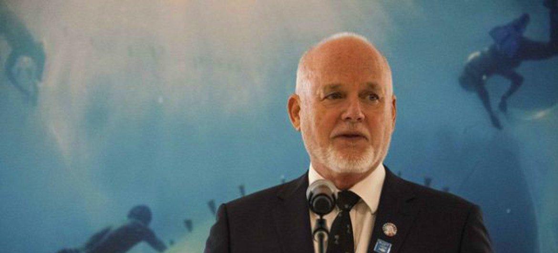 El enviado especial del Secretario General de las Naciones Unidas para los océanos, Peter Thomson.
