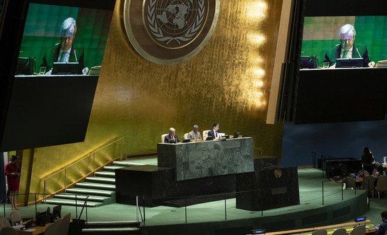 جلسة عامة رفيعة مستوى للجمعية العامة للأمم المتحدة حول استعراض منتصف المدة لبرنامج عمل فيينا للبلدان غير الساحلية للعقد 2014-2024