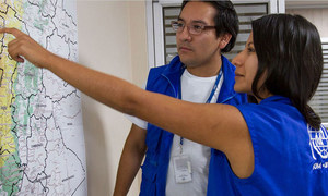 UN Volunteers support rapid response to disasters with the International Organization for Migration (IOM).