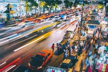 泰国曼谷街景。