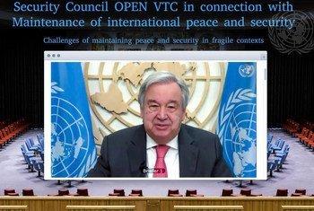 Генеральный секретарь ООН Антониу Гутерриш выступил перед членами Совета Безопасности ООН.