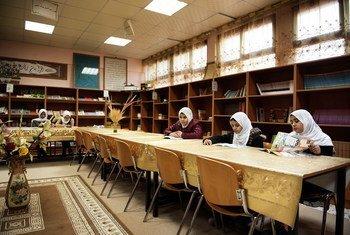 Des étudiantes dans une bibliothèque à Tripoli, en Libye (photo d'archives).