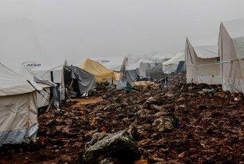 Un campamento de desplazados en la ciudad siria de Idlib. La guerra ha sido en todos los tiempos una de las amenazas a nuestra convivencia.