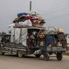 Many families have been trying to flee an escalation of fighting in northern Syria.