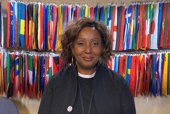 UNFPA's Nafissatou Diop in the UN News studio.