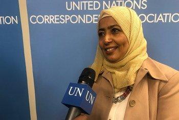 الطبيبة أفراح ثابت الأديمي أخصائية الصحة الإنجابية بمكتب صندوق الأمم المتحدة للسكان في اليمن، خلال حوار مع أخبار الأمم المتحدة في نيويورك.