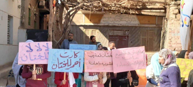"""""""Les MGF sont un crime"""" dénoncent ces manifestants en Egypte."""
