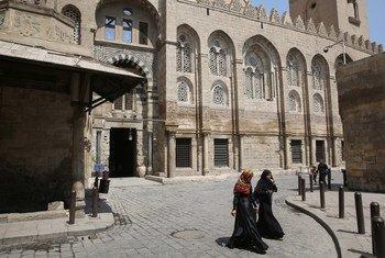 埃及首都开罗老城街景。