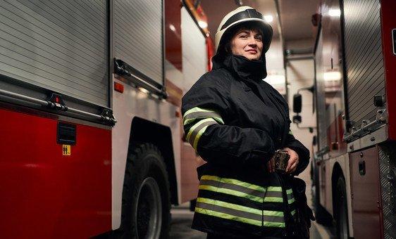 Анастасия Клочко, пожарный-спасатель Государственной службы Украины по чрезвычайным ситуациям.