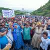 La Vice-Secrétaire générale de l'ONU, Amina Mohammed (au centre gauche), lors d'une marche de soutien à la Journée internationale des femmes en Papouasie-Nouvelle-Guinée en mars 2020.