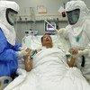 Wahudumu wa kiafya katika hospitali ya tiba ya Chuo Kikuu cha Nanjin nchiin china wakishauriana na mgonjwa kuhusu upasuaji wa kupandikiza pafu.