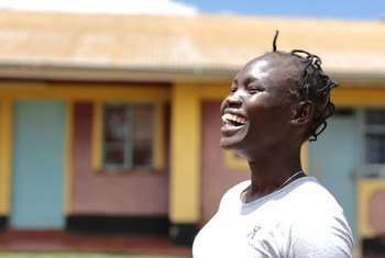 South Sudanese Refugee athlete Rose Nathike Lokonyen is in raining for the Olympic Games in Tokyo.