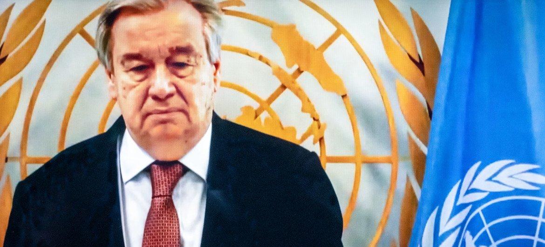 O secretário-geral António Guterres disse que os combates devem parar imediatamente