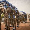 A funeral ceremony is held in Mali in memory of two UN peacekeepers, Lt-Colonel Carlos Moises Guillen Alfaro of El Salvador and Colonel Savy Sar of Cambodia, who died in May 2020 as a result of COVID-19.