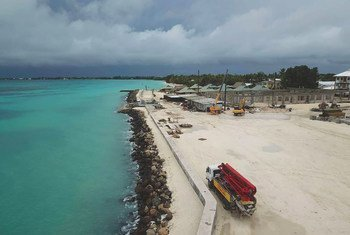 The low-lying archipelago, Tuvalu, in the Pacific Ocean is reclaiming land as it fights the effects of climate change.
