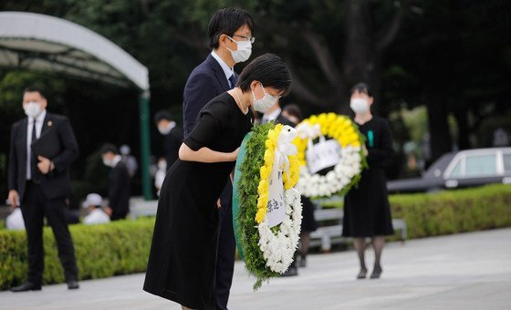 A alta representante para Assuntos de Desarmamento, Izumi Nakamitsu, participou na cerimônia