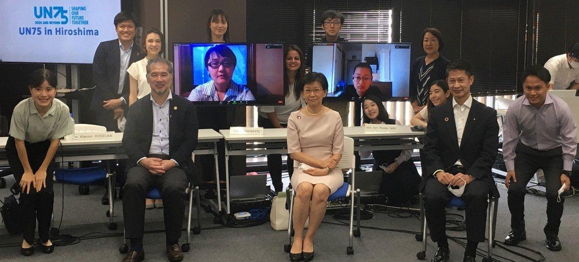 联合国副秘书长中满泉:彻底消除核武器 青年一代重任在肩