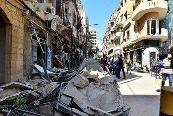 التفجير في مرفأ بيروت تسبب بأضرار جسيمة في الأحياء السكنية.