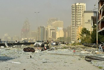 Neighbourhoods facing the port of Beirut were extensively damaged by the explosion.