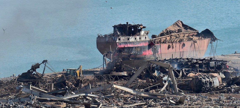 贝鲁特港是爆炸的中心。