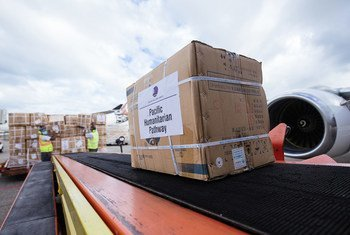 Medical supplies have been flown out of Fiji as part of the UN's response to the COVID-19 pandemic in the Pacific Ocean.