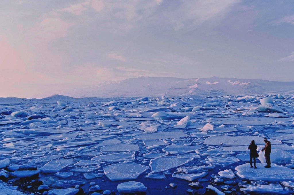 صفائح جليدية، أيسلندا.