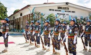Женщины-полицейские из Бангладеш в составе Миссии ООН по поддержке сектора правосудия в Гаити