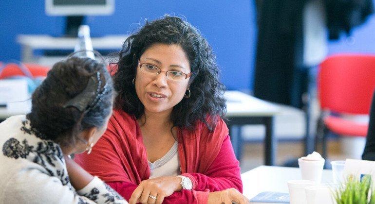 Diretora do Unaids Brasil, Claudia Velasquez