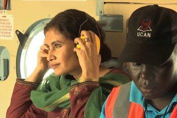 UNMISS की वरिष्ठ महिला सुरक्षा सलाहकार, हुमा ख़ान.