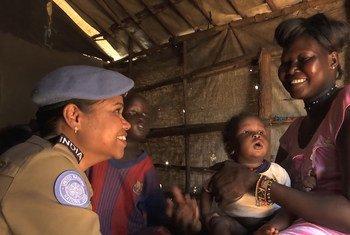 UNMISS की मूल्याँकन टीम लीडर, रागिनी कुमारी.