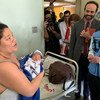 Mark Lowcock (right), Under-Secretary-General for Humanitarian Affairs and Emergency Relief Coordinator, pays a visit to a hospital that serves one million people in a Caracas neighborhood in Venezuela.