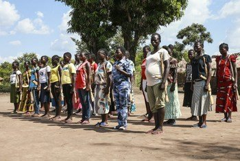 فريق مشترك من حماية الطفل في جنوب السودان يتفقد موقع تابع لقوات الحركة الشعبية لتحرير السودان المعارضة